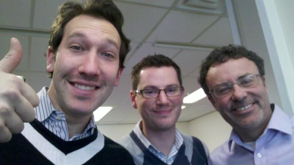 The guys pose for Movember Day 1