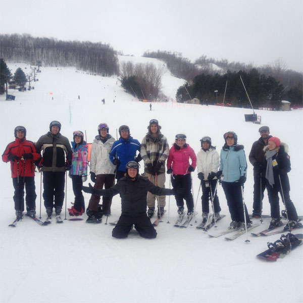 Our Stafflink Toronto IT Staffing Team Hits the slopes at CPA Ski Day