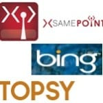 Top three favourite social search engines for IT recruiting: Samepoint, Bing and Topsy