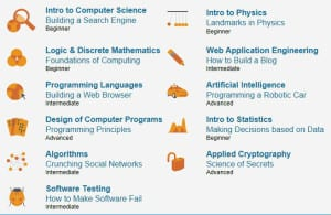 Udacity offers these free online technology courses