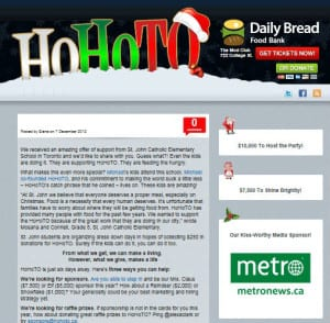 Support HOHOTO and the Daily Bread Food Bank