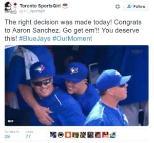 Congrats to Blue Jays on great decision